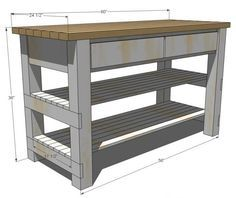 Want to use and modify these plans to build a folding table for our build michaelas kitchen island diy projects solutioingenieria Images