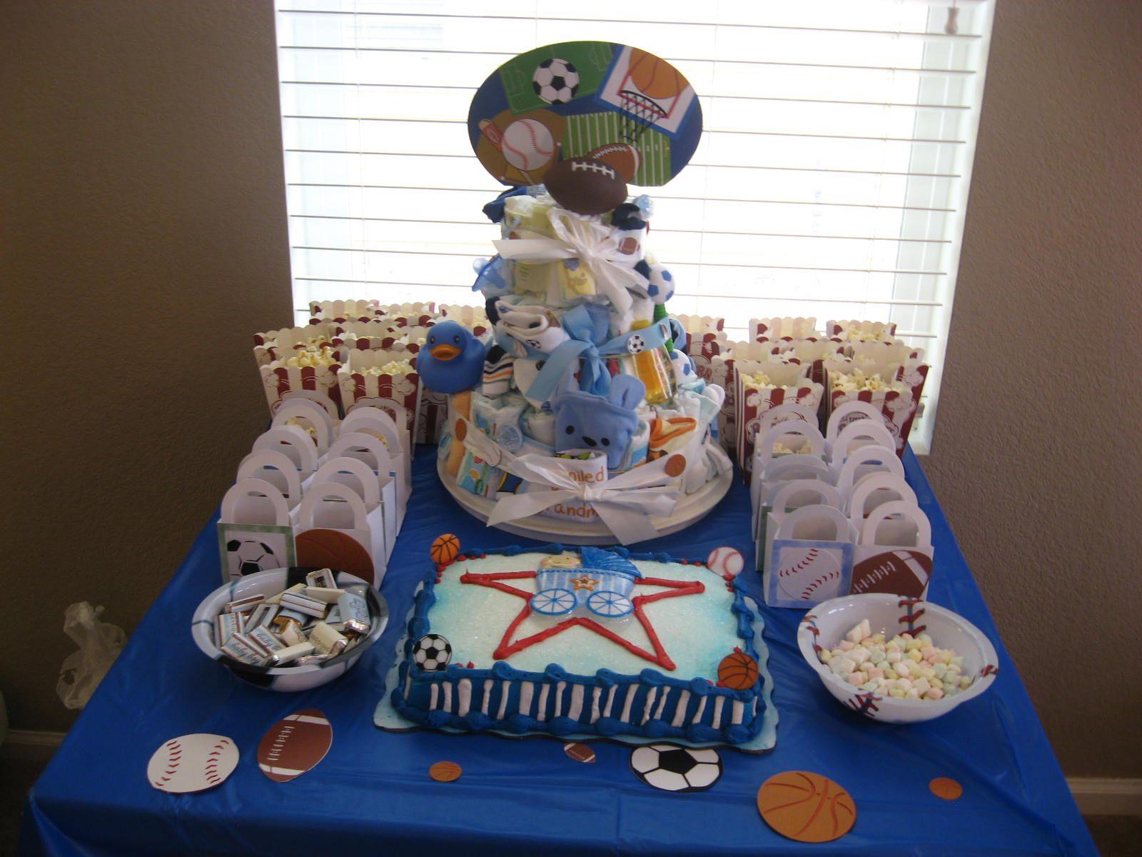 Boys baby shower sports theme Baby Ideas Pinterest