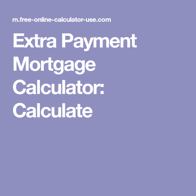 free mortgage calculator with extra payments