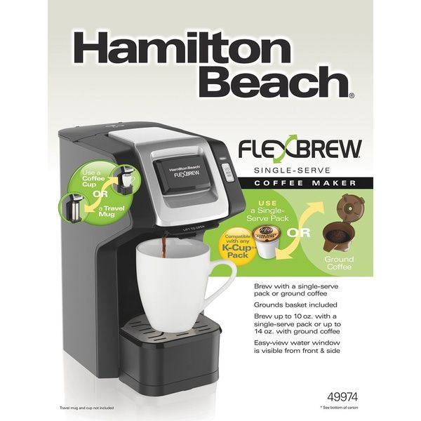 Hamilton Beach Flexbrew Single Serve Grind And Brew Ground Coffee