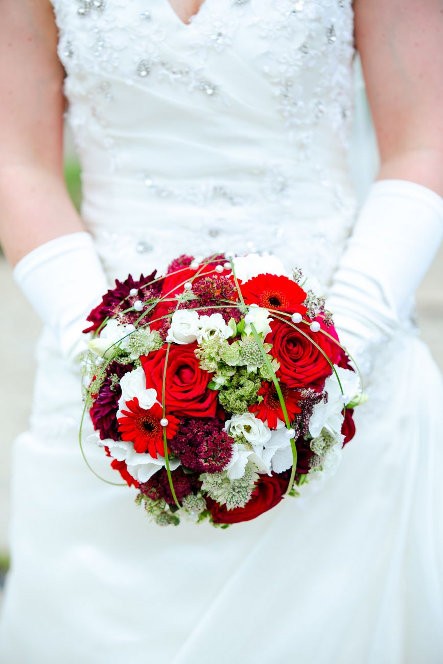 Bride Bouquet Red And White Brautstrauss Weiss Rot Foto