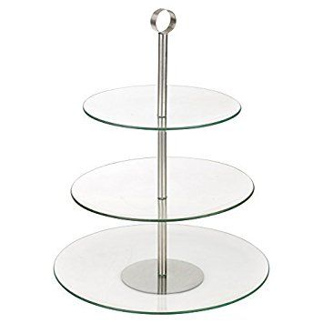 Gl Serving Food Display Cake Stand 3 Tier Round Co Uk