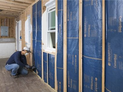 Keep Moisture Out Of Your Walls By Installing Insulation That Includes A Smart Vapor Barrier