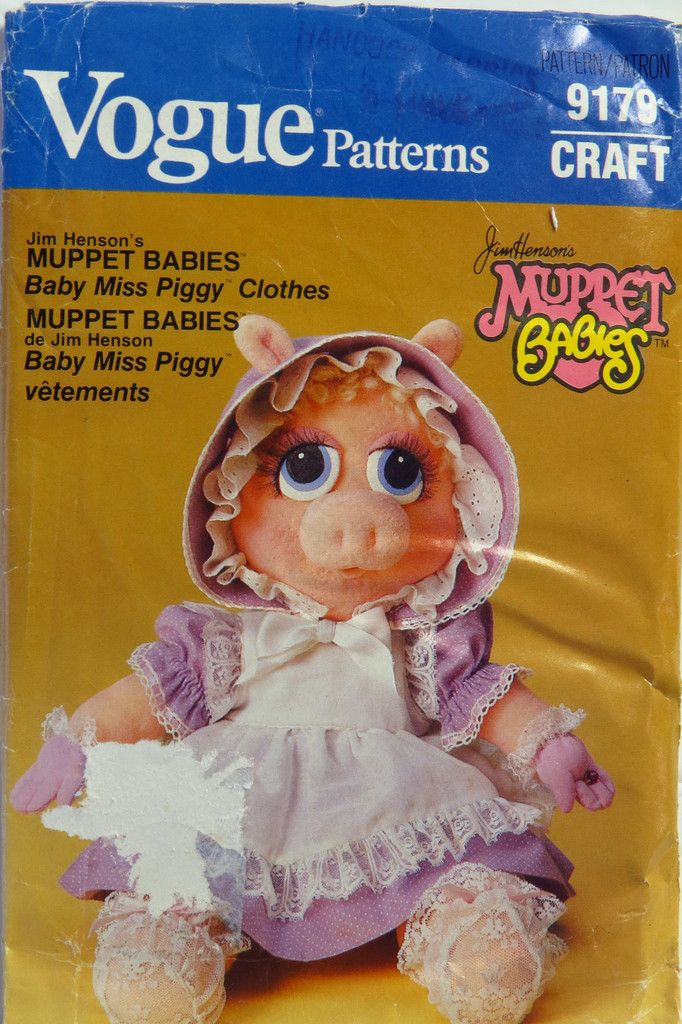Vogue 9179 Jim Henson\'s Muppet Babies™ Baby Miss Piggy™ Clothes