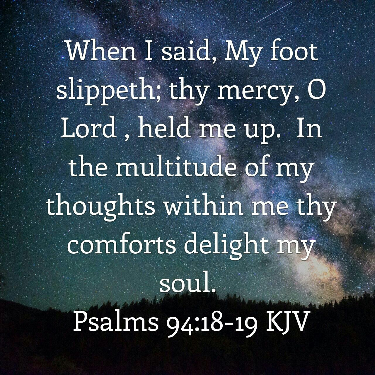 Image result for Psalm 94:18-19 King James Version (KJV)