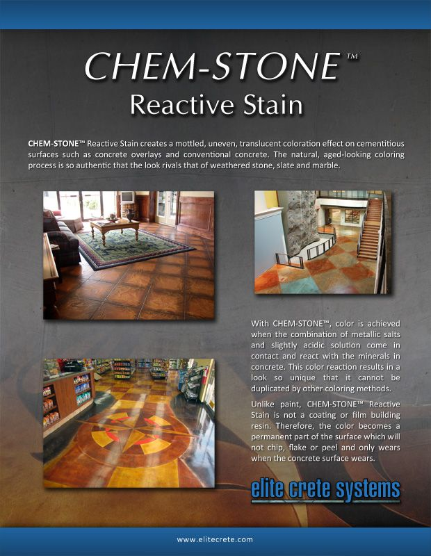 Elite crete chem stone reactive stain also best decorative concrete overlays images overlay rh pinterest