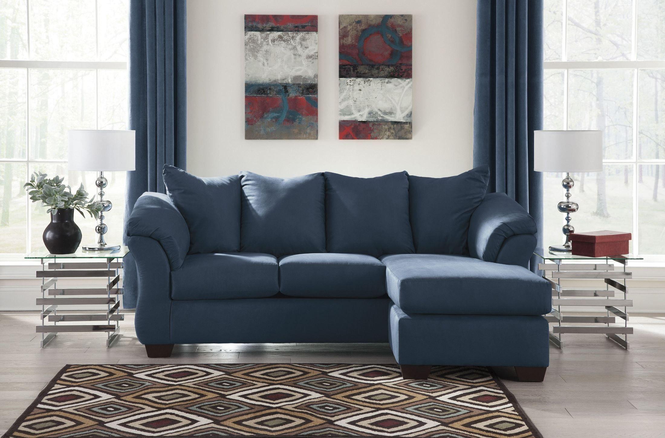 Kaufen Sofa Royal Blue Loveseat Marine Blau Getuftet Sofa Lange