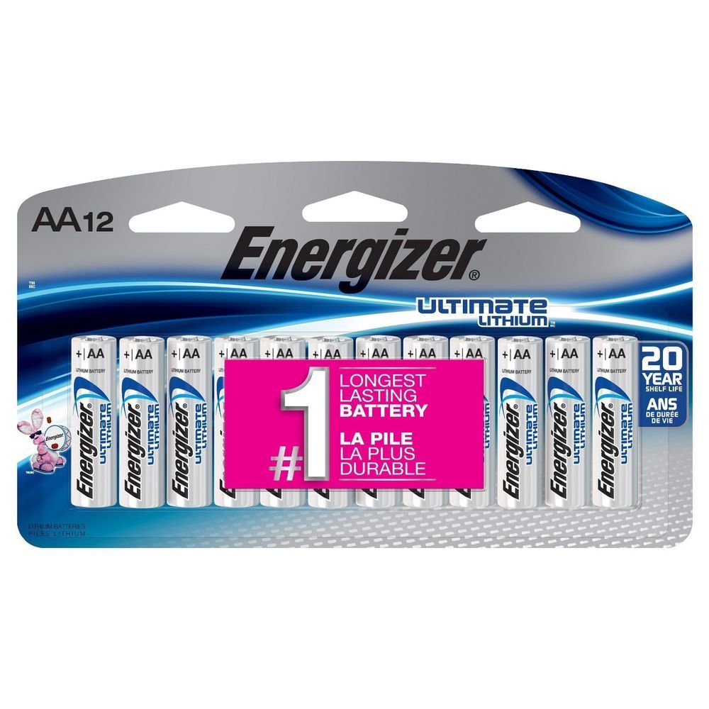 Energizer Ultimate Lithium Aa Batteries 4 12 Packs 48 Batteries Total Energizer Battery Energizer Lithium Battery Battery