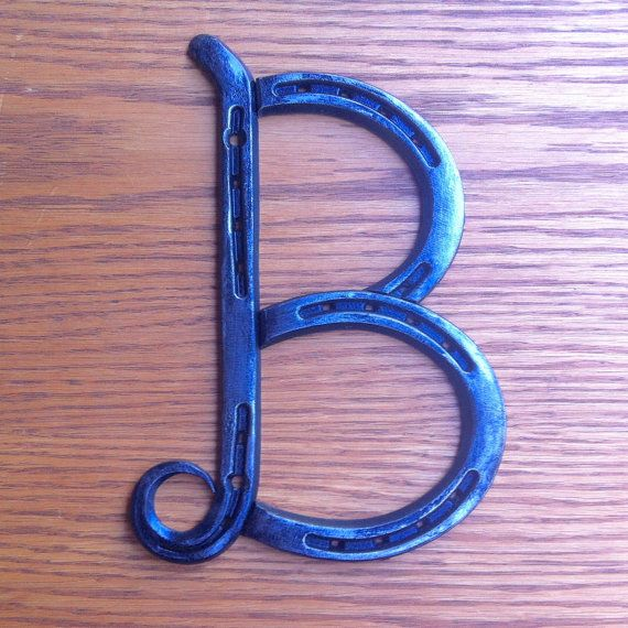 Horseshoe Letter Fancy B Initials For Words A B C D E F G H I J K L M N O P Q R S T W X Y Horseshoe