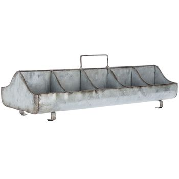 Galvanized Metal Tray With Handle