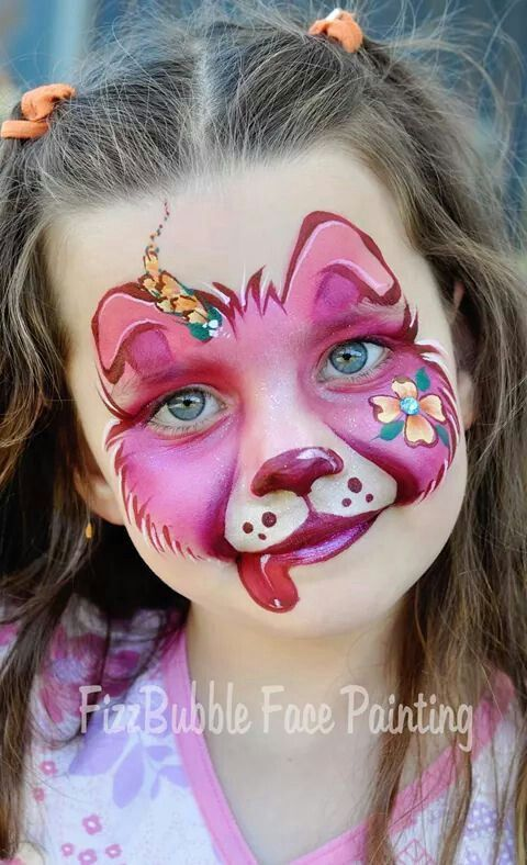 Pin By Sarah Pearce On Practice Board Face Painting Designs Dog