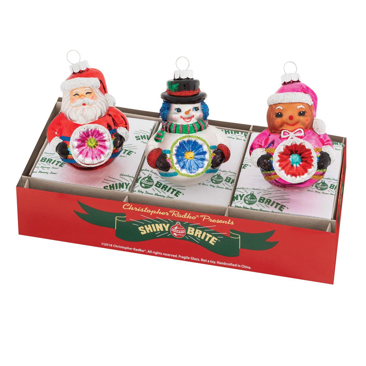 "Christmas Confetti 3.25"" Figures by Christopher Radko (Set"