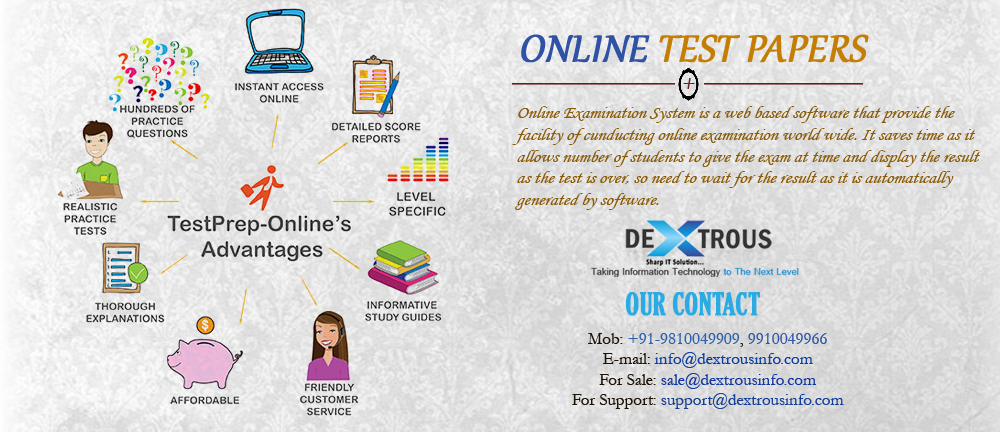 Dextrous info solutions provides Online test papers and