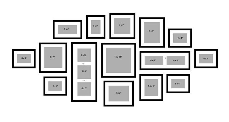 good frame dimension ideas! would love to create a framed collage #wallcollage