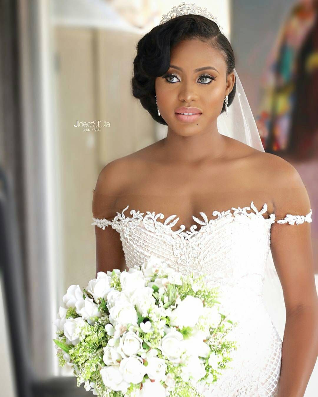 Lovely African Wedding Hairstyles Wedding Hair Side Bride