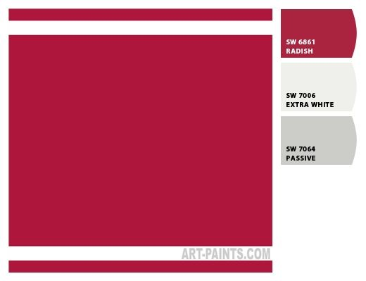Sherwin-Williams  PAINT COLOR BERRY RED