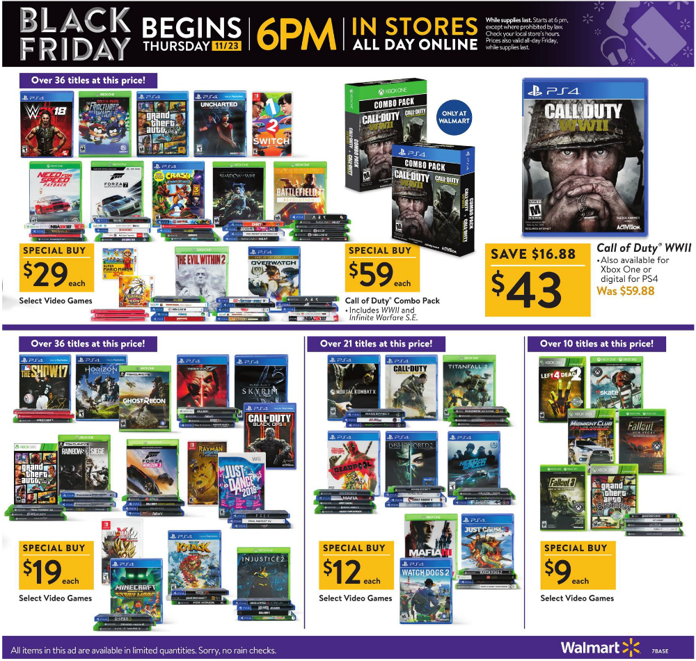 Walmart Black Friday 2017 Ads And Deals The Biggest Black Friday Sale Of The Year Will Offer The Largest Selection Of Online Deals And Doorbusters Huge Price D