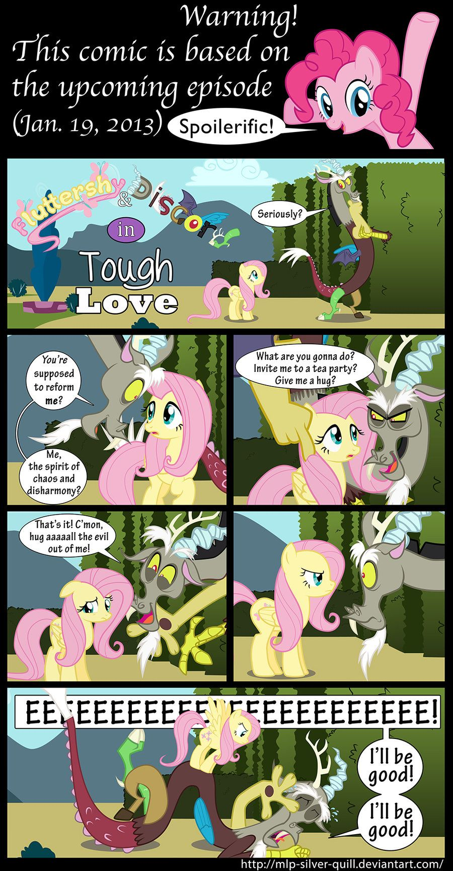 Discord Celestia Comic tough lovemlp-silver-quill.deviantart on @deviantart