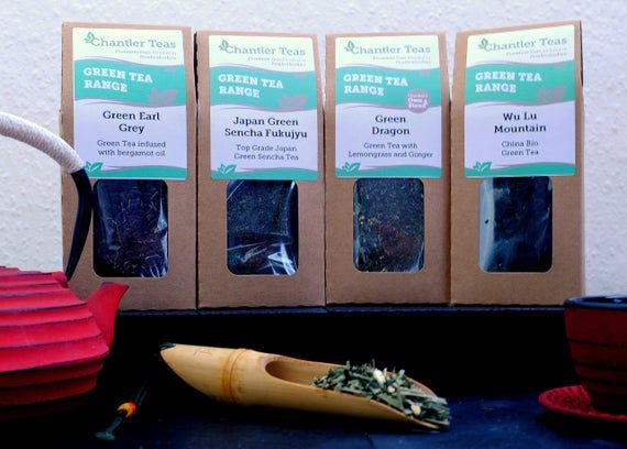 Photo of Loose Leaf Green Tea with Lemongrass & Ginger, Green Dragon, 80g Retail Box, loose Leaf Green Tea, Lemongrass Green Tea