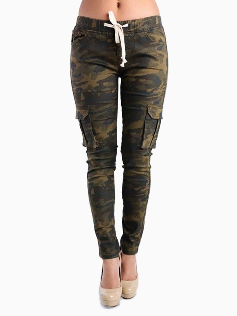 american bazi plus size camo cargo pants with waist band. 97