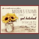 Rustic Mason Jar Sunflowers Wedding Invitations | Zazzle
