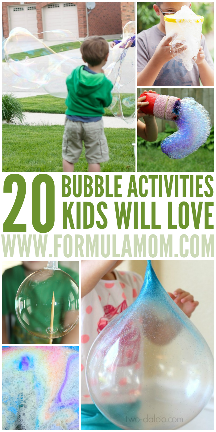 20 Bubble Activities Kids Will Love All Year Long Activities For