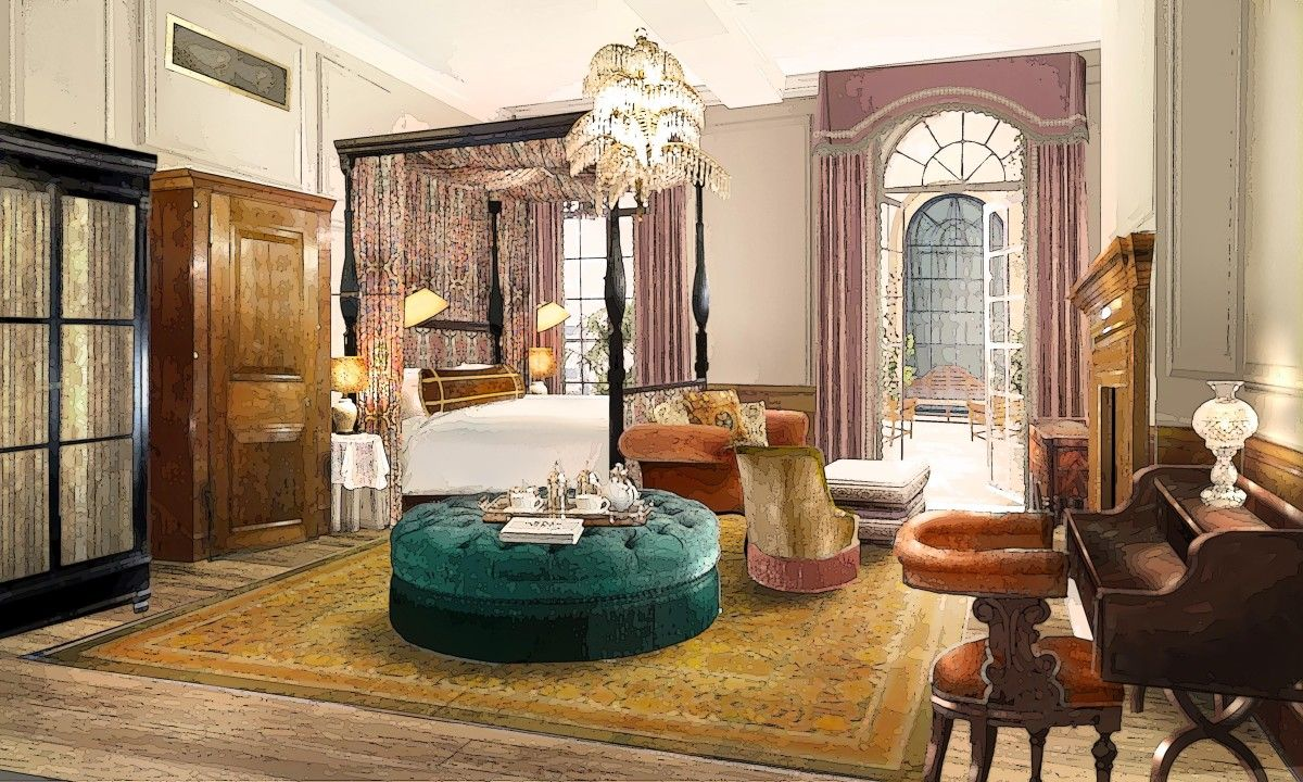 Rooms and suites at the ned hotel london channel 1920s and for 1920s hotel decor