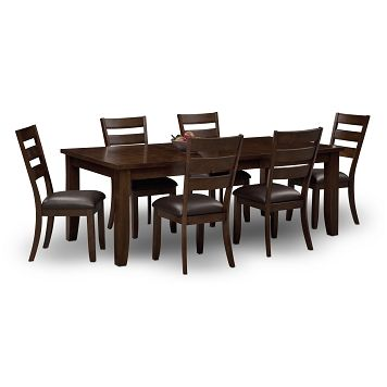 Abaco Dining Room 7 Pc Dining Room Value City Furniture 649 93 Dining Room Bar Dining Room Sets Dining Room Table Chairs