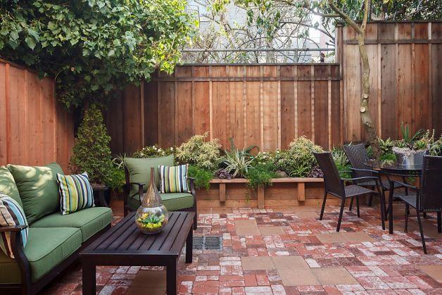 concrete patio - privacy