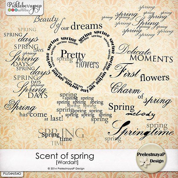 Scent of spring Wordart by PrelestnayaP Design