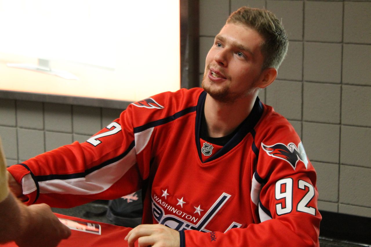 Caps Rookie Evgeny Kuznetsov Meets And Greets Fans At Verizon Center