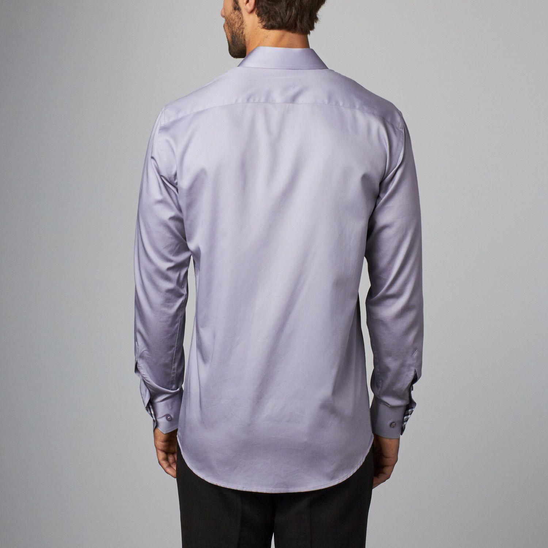 db39dc04 Plaid Placket Button-Up Shirt // Grey (S) | Clothing | Shirts, Mens ...