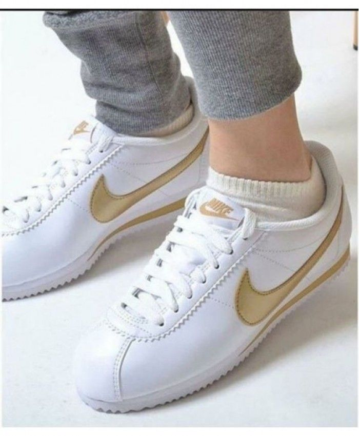 6263e2b8d7a532 Nike Cortez Womens White Gold Trainer Clearance