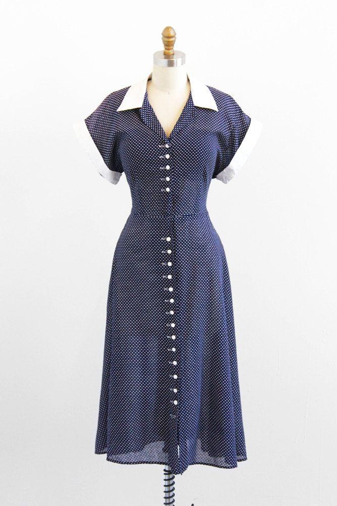 Dress 1940s Rococo Vintage | Dresses | Pinterest | Estilo 50, Locos ...