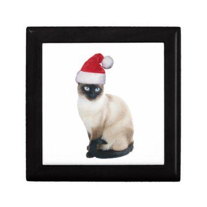 Santa Cat Jewelry Box - animal gift ideas animals and pets diy customize