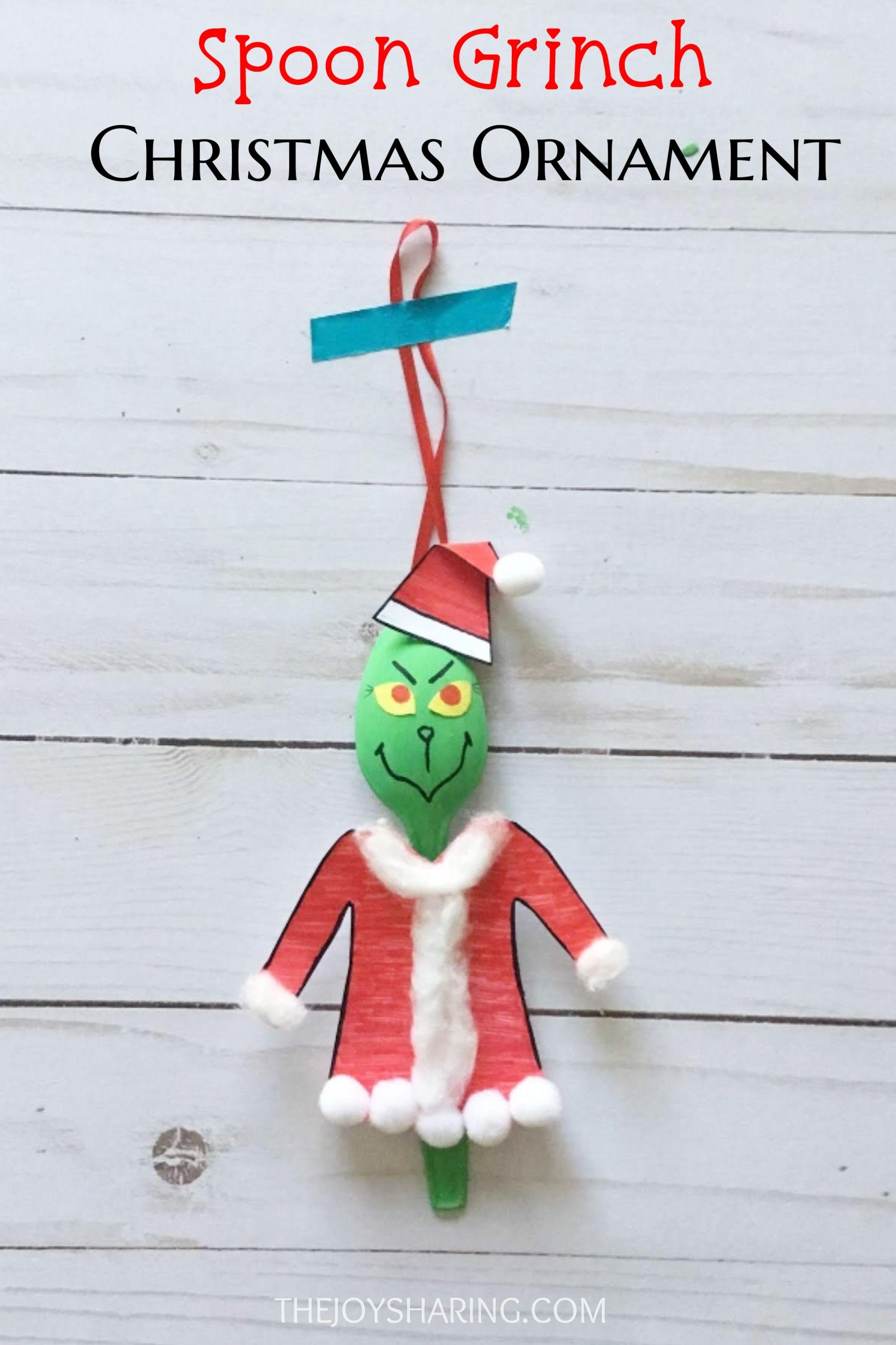 Spoon Grinch Christmas Ornament