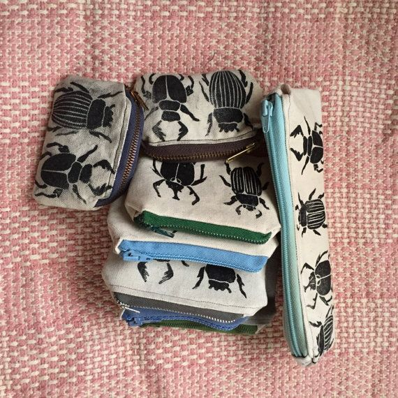 Beetle Bag  Pencil Case by MaryVertulfo on Etsy