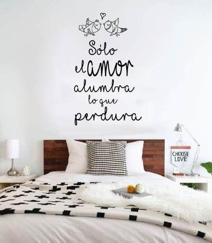 Vinilo decorativo frases de amor romantico escrib la tuya for Stickers para habitaciones