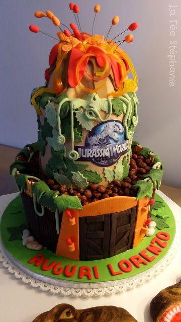 la fée stéphanie: gâteau d'anniversaire jurassic world