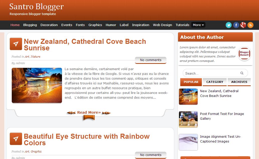 Free Blogger Templates and Templates #Blogspot. Blogger Templates 1 ...
