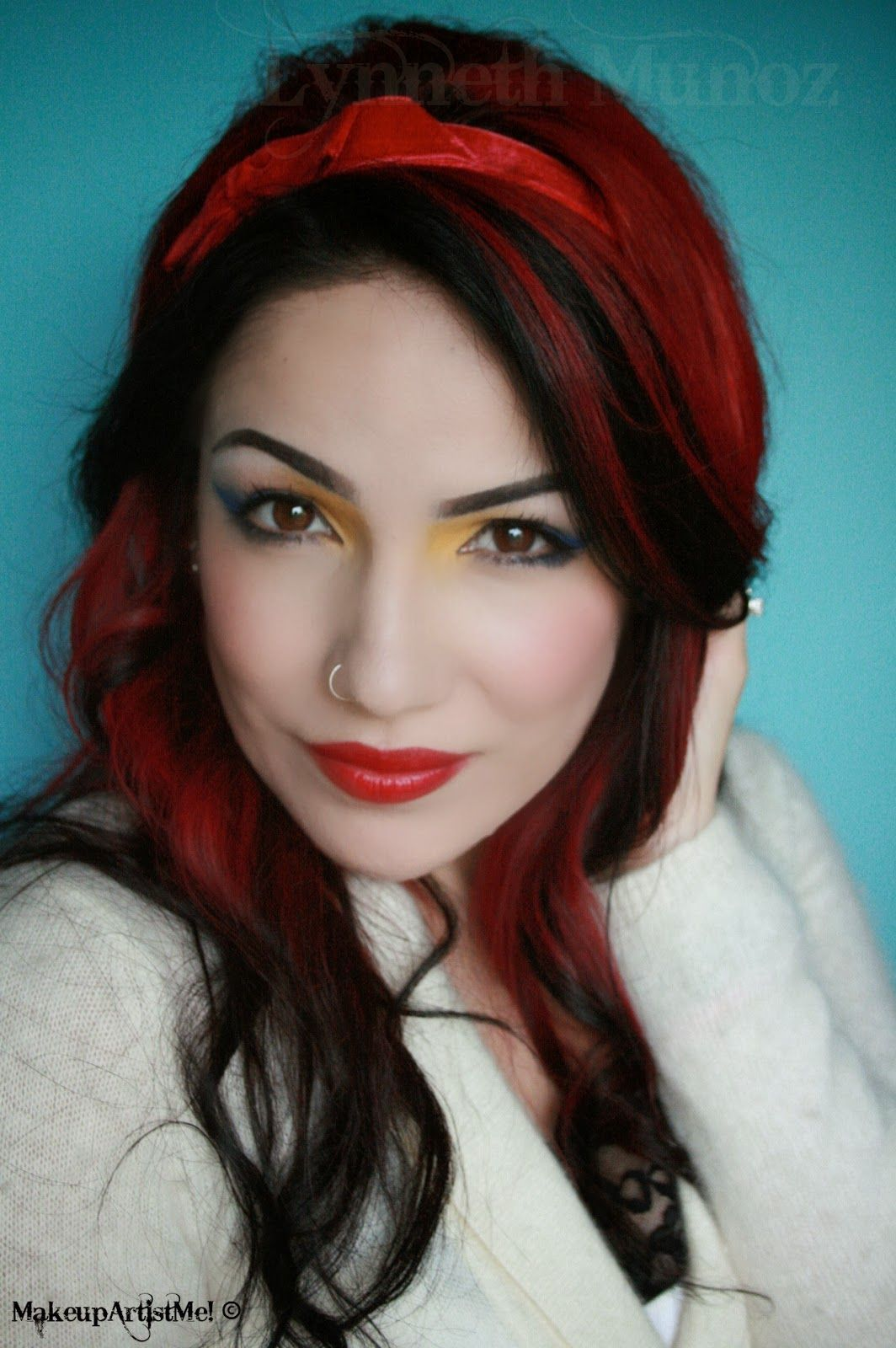 Black hair with vibrant red hairdos u glam pinterest black hair