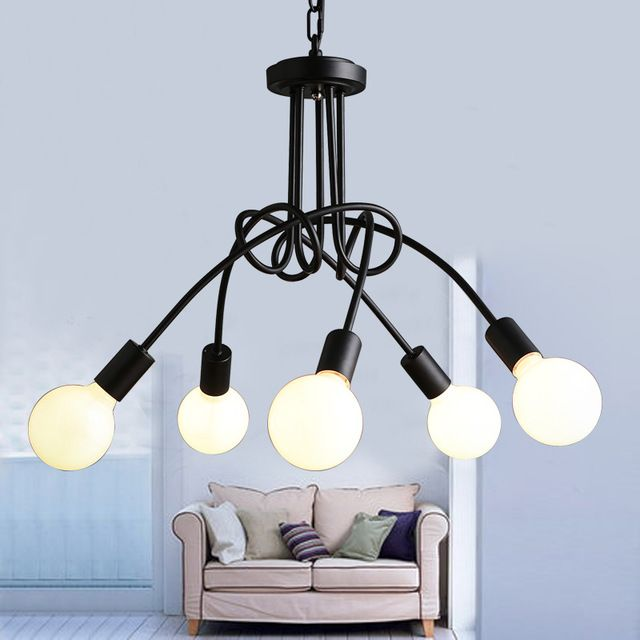 Modern korean art bending diy black chandeliers vintage industrial cheap store cms buy quality store counter directly from china store discounts suppliers modern korean art bending diy black chandeliers vintage industrial aloadofball Image collections