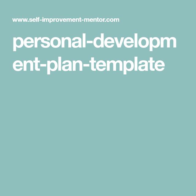 personal-development-plan-template | Getting a job | Pinterest ...