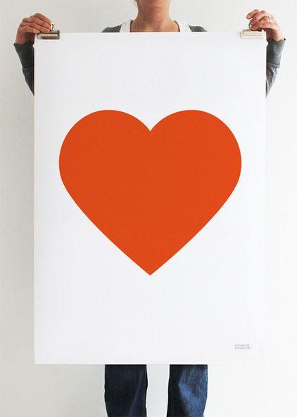 Orange heart - contemporary artwork by Showler & Showler