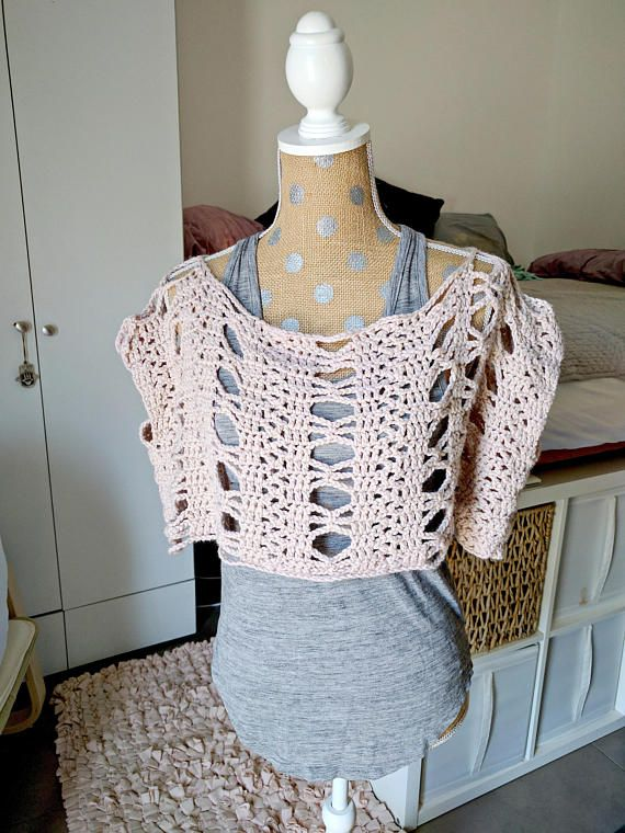 Lace Crochet Boxy Top Pattern Instructions For Womens Crocheted