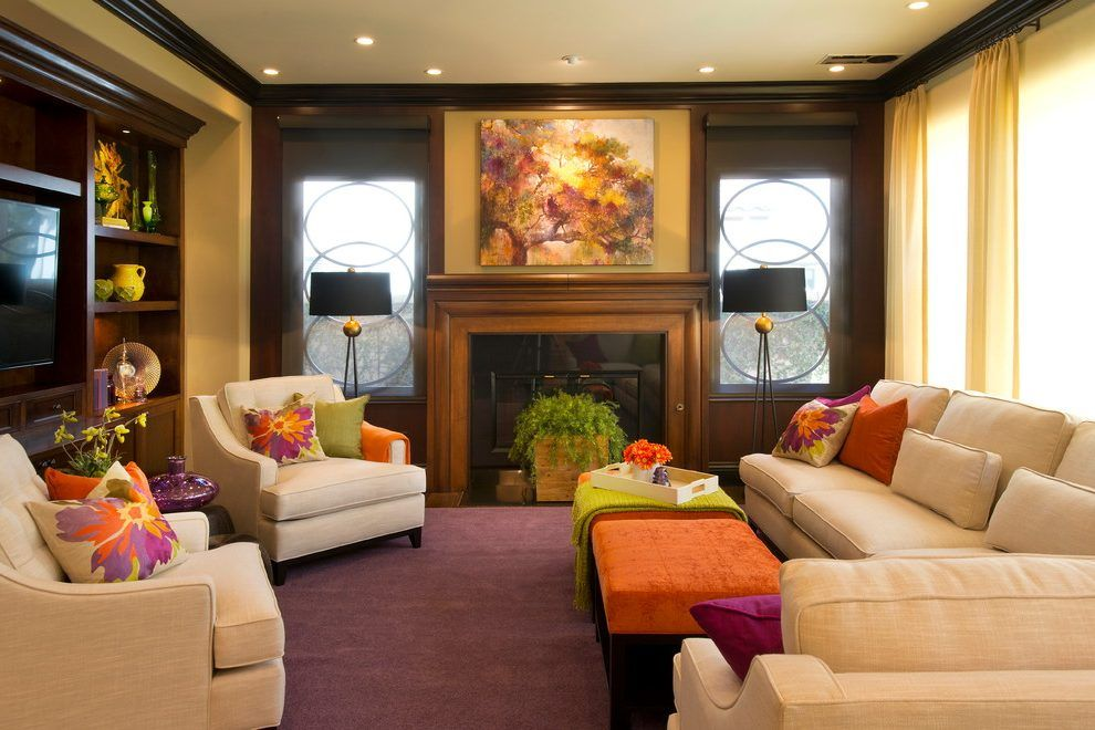 Rebecca Robeson Living Room Contemporary With Purple Carpet Square Beauteous Carpet For Living Room Designs Design Ideas