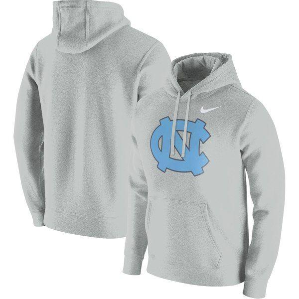 newest fb8f3 79e57 North Carolina Tar Heels Nike Club Fleece Pullover Hoodie Heathered Gray   NorthCarolinaTarHeels