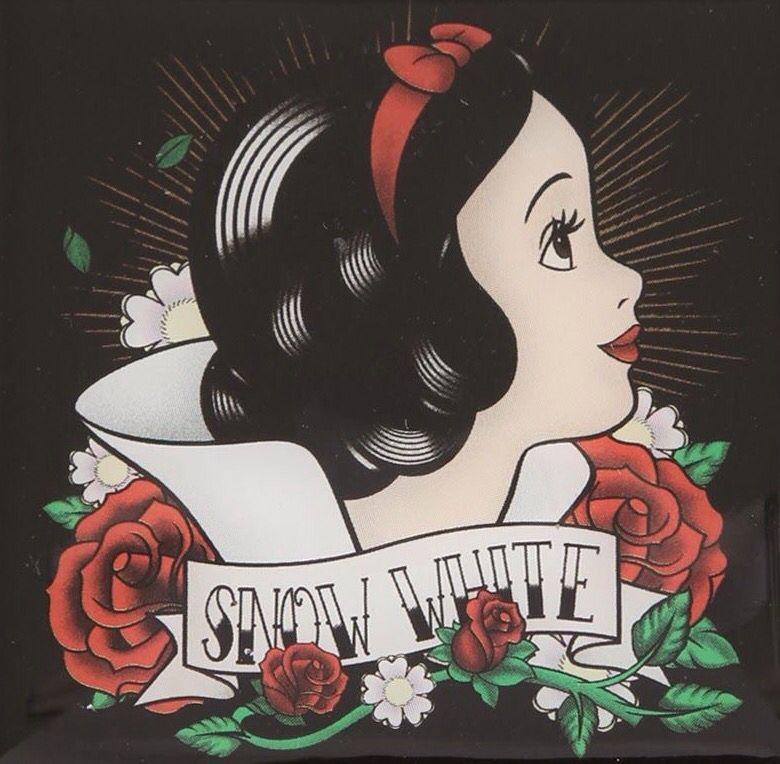 Snow White Tattoo Flash