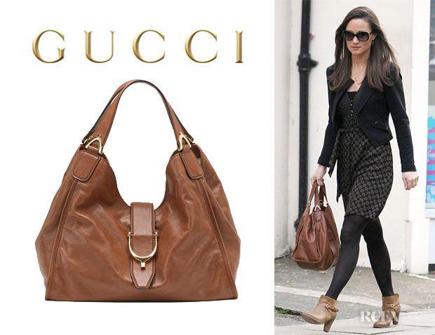 2b5421e166151 Pippa Middleton s Gucci Soft Stirrup Shoulder Bag. I want that bag!!!