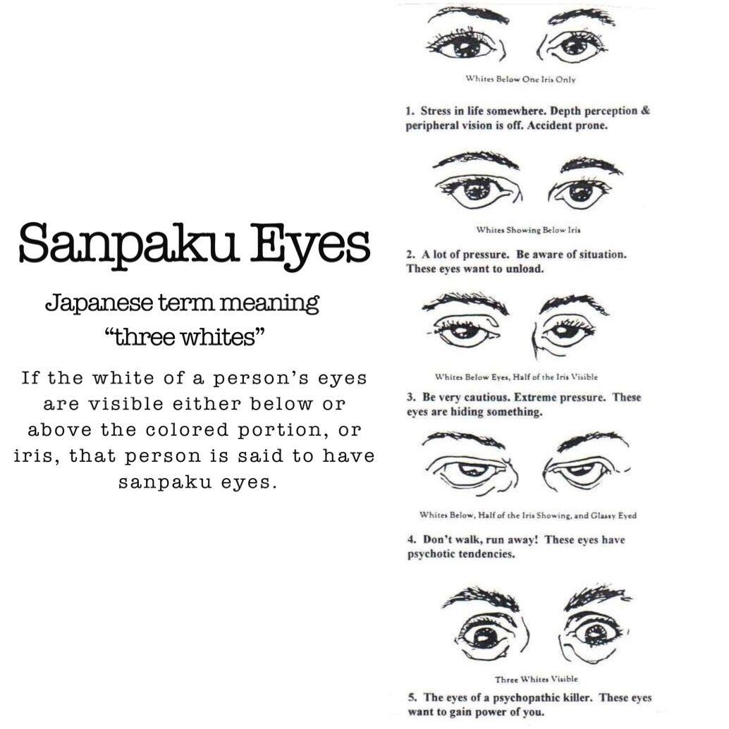 Sanpaku Eyes Eyes My Crazy Ex Japanese Meaning